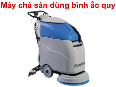 máy chà sàn dùng bình ắc quy