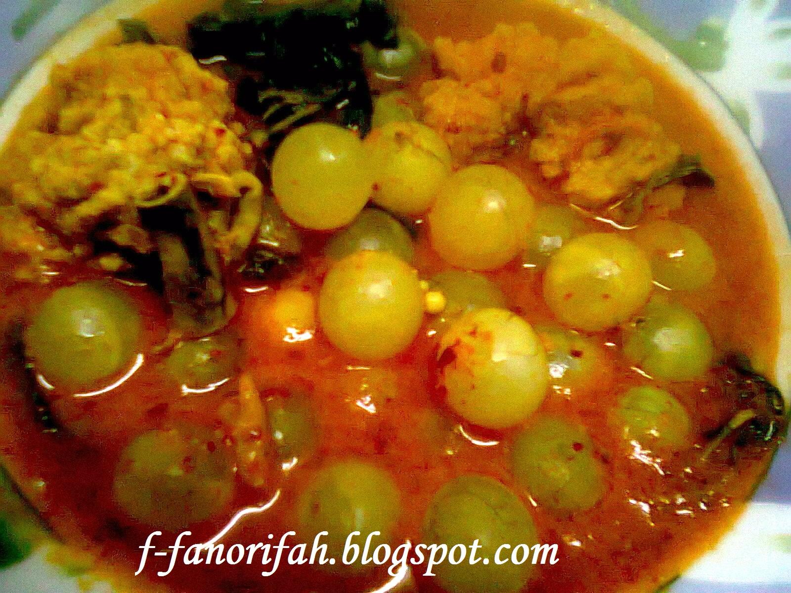 Asam Pedas Telur Ikan / Sajikan sup ikan dengan potongan