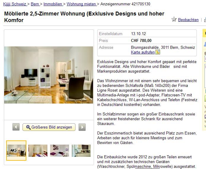 m blierte 2 5 zimmer wohnung exklusive designs und hoher komfort. Black Bedroom Furniture Sets. Home Design Ideas