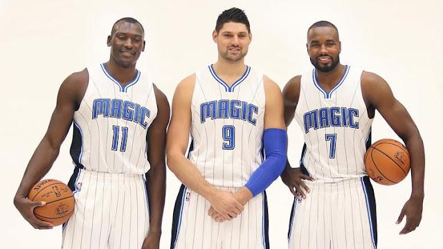 Bismack Biyombo, Nikola Vucevic et Serge Ibaka composent la raquette du Magic
