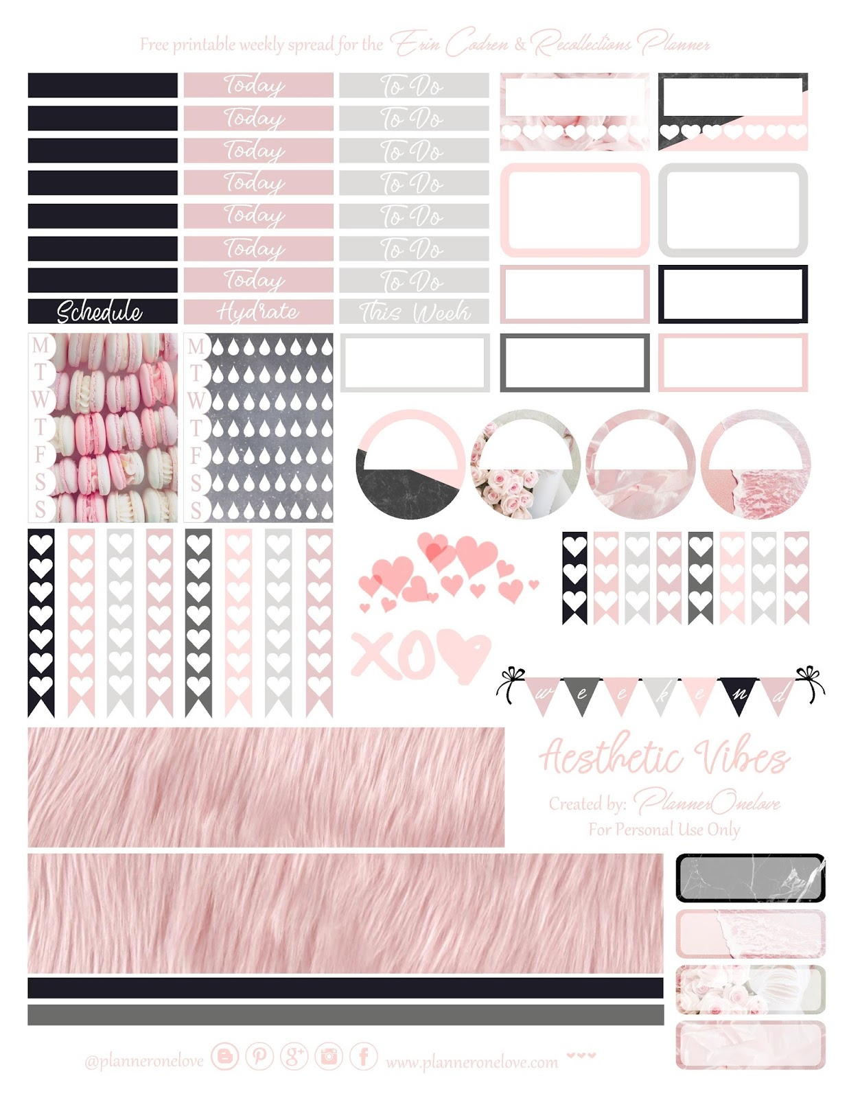 graphic relating to Aesthetic Stickers Printable titled Cost-free Aesthetic Vibes Printable With Silhouette Studio Reduce
