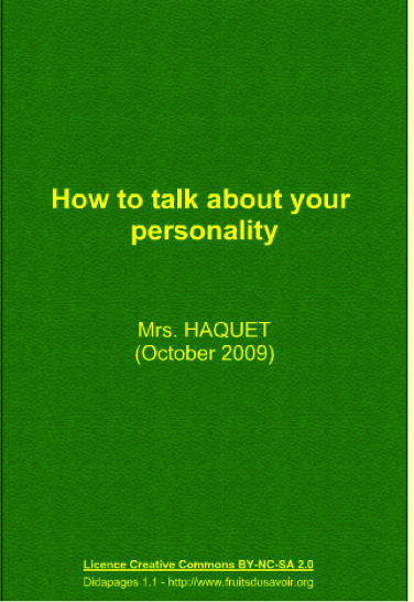 How to talk about your personality