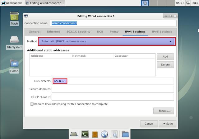 Change DNS Debian Xfce