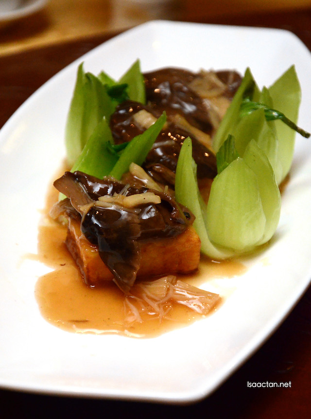 Braised Pumpkin Bean Curd with Wild Mushrooms and Dried Scallop - RM42