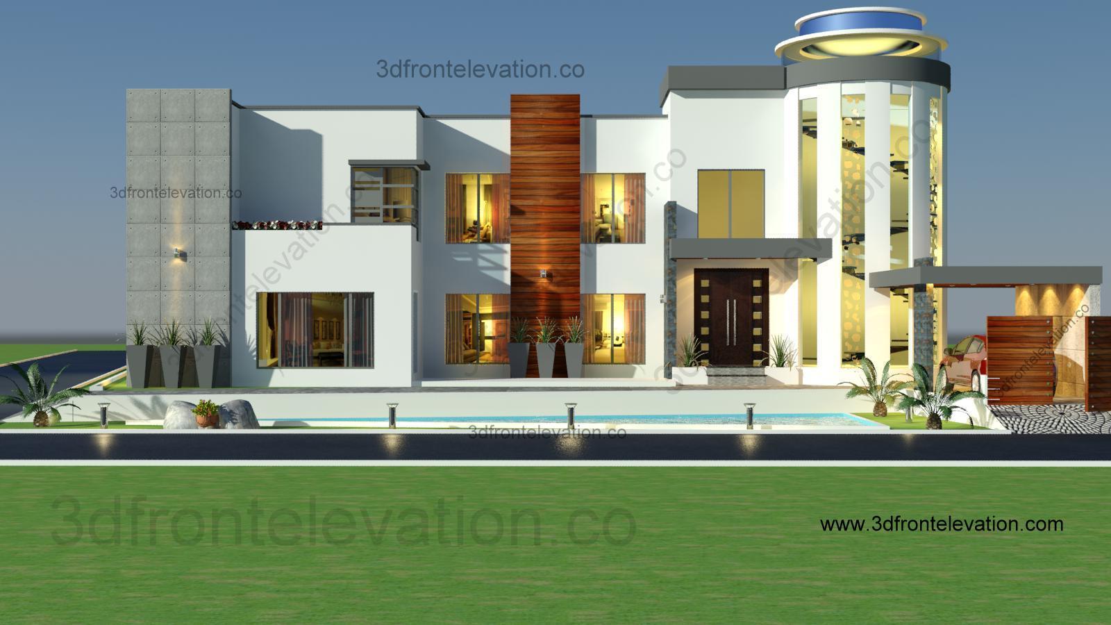 3d front 2 kanal house design for 2 kanal house floor plans