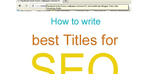 SEO Title Tag Best Practices | Facebook tricks PHP tutorials