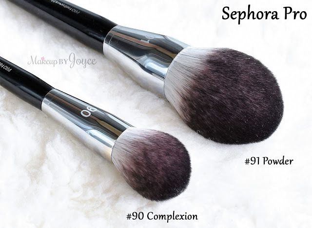 Sephora Collection Pro Featherweight Brushes Review #91 Powder vs #90 Complexion Comparison