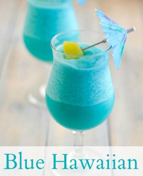 TROPICAL FROZEN BLUE HAWAIIAN COCKTAIL RECIPE