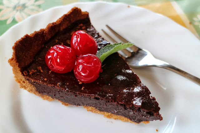 chocolate-tart, tarta-de-chocolate-y-leche-condensada