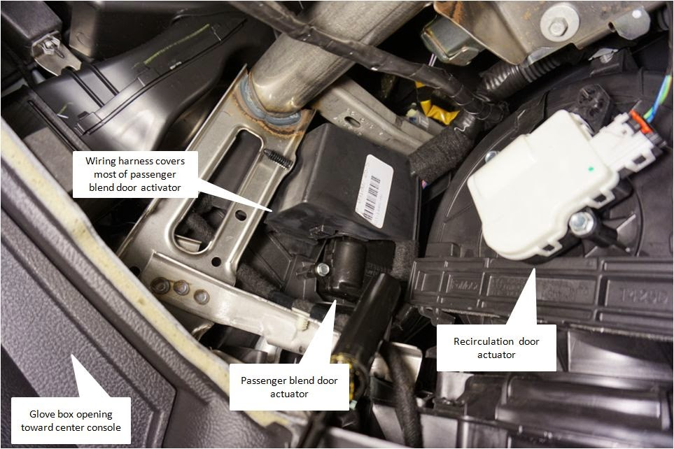 My Commentary And Technical Help Ford Taurus Passenger Blend Door Actuator