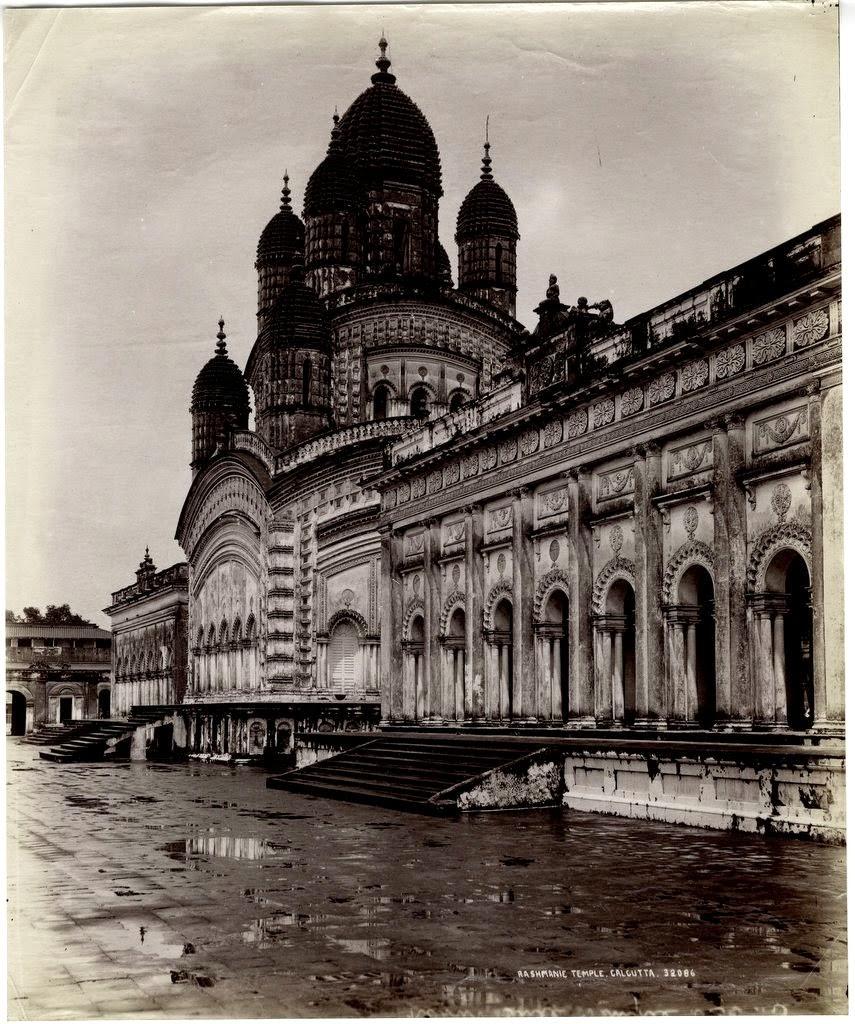 Dakshineswar Kali Temple in Calcutta (Kolkata) - c1890's