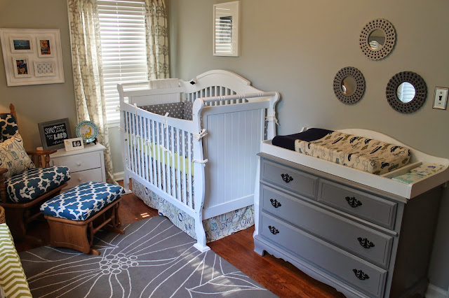 Notes From The Nelsens Blue Green And Gray Nursery Reveal
