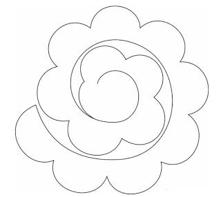 6 maneras f ciles para hacer flores de fieltro decorativas for Rolled paper roses template