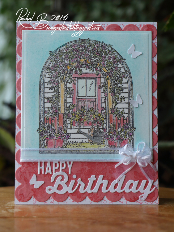 Scrapatout - Handmade card, Impression Obsession, Birthday, Arbor