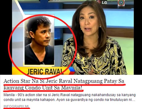 Jeric Raval cause of death