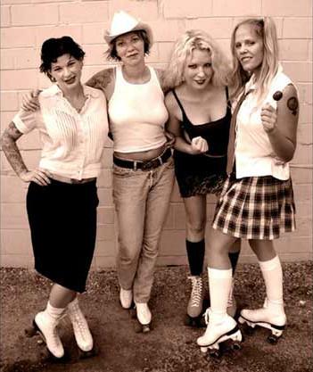 bad-girl-good-woman-roller-derby-Nancy-Haggerty-Anya-Jack-April-Hermann-Heather-Burdick