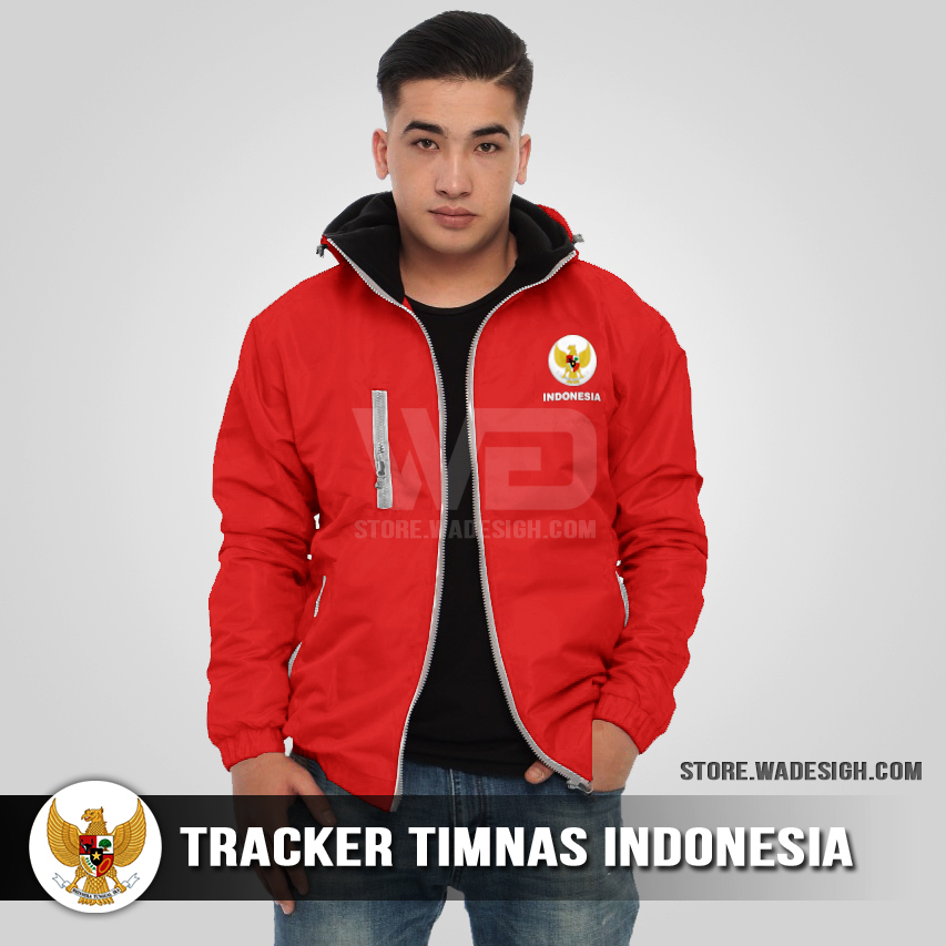 Jaket Tracker Waterproof Timnas Indonesia
