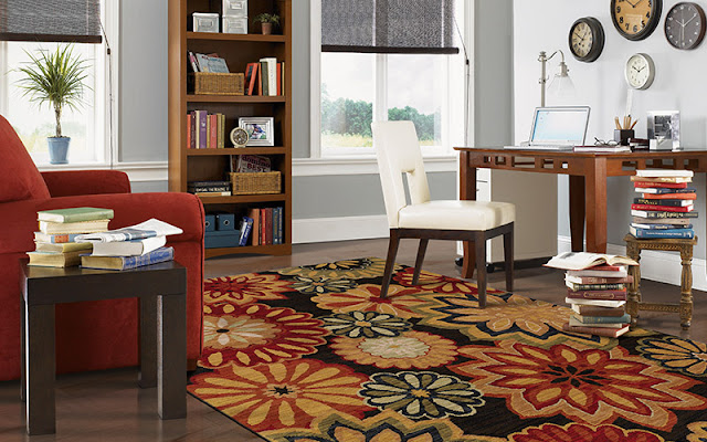Bold, beautiful area rugs makeover a room