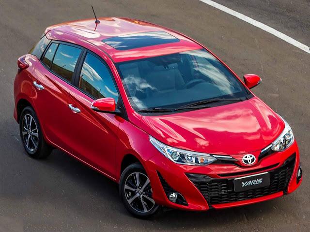 Toyota Yaris 2019 - volta ao top 20 mais vendidos