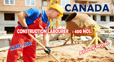 CONSTRUCTION LABORER IN CANADA - APPLY NOW ONLINE