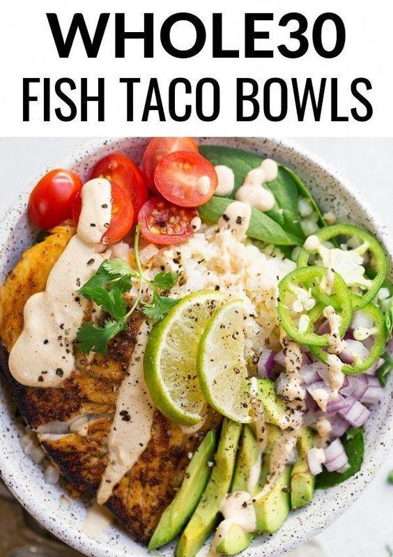 Paleo Fish Taco Bowls