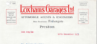 Loxhams Fishegate letterhead 12 December 1935