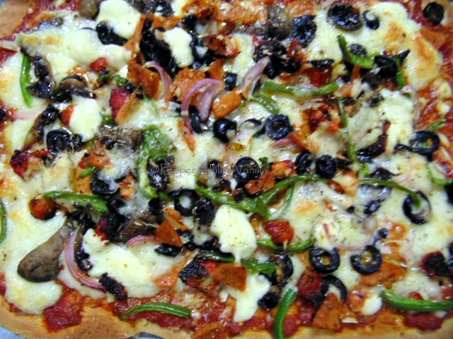 pepper chili vanilla pizza recipe, how to make tray pizza