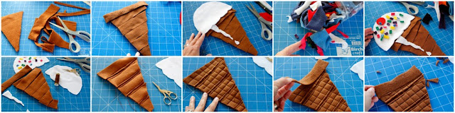 DIY ice cream cone dog toy, step-by-step how to make