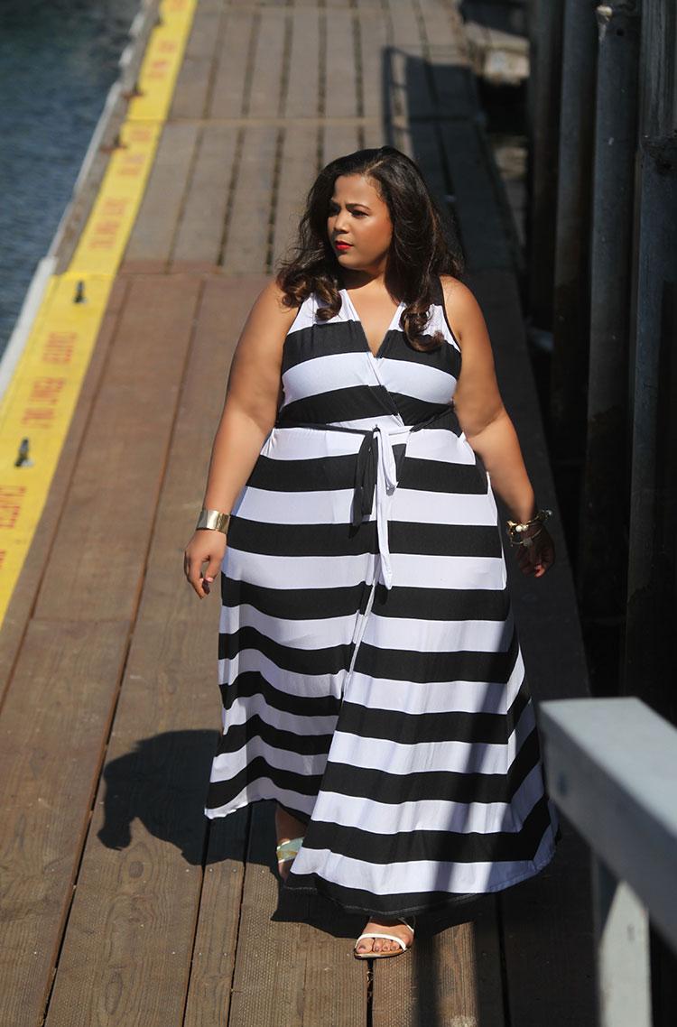 Imagenes de vestidos de rayas para gorditas