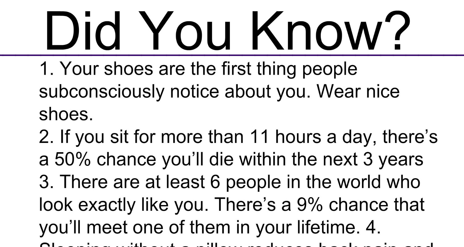 Did You Know These 20 Hidden Facts?