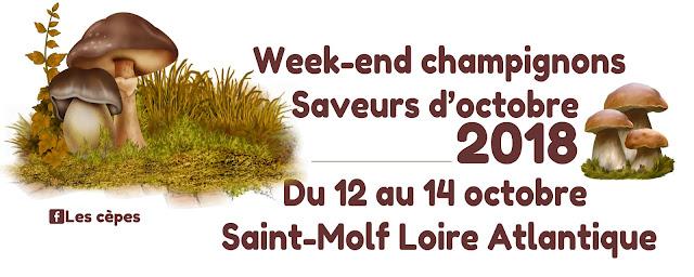 Week-end champignons Saveurs d'octobre Loire Atlantique 2018