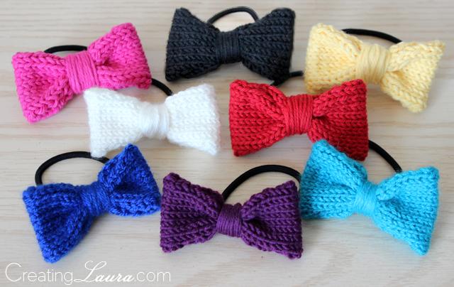 Creating Laura: Hair Bow Knitting Pattern