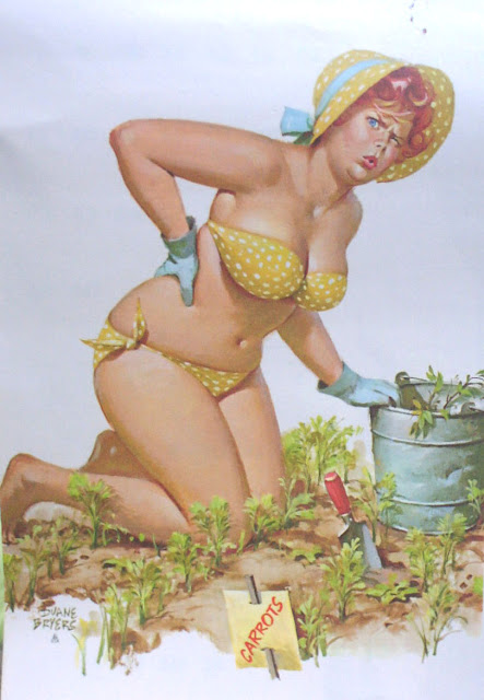 hilda la Gordita pin up  jardinera