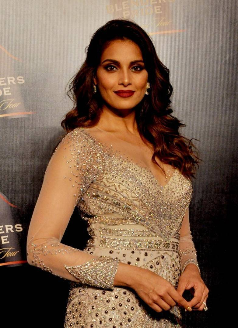 Bollywood Actress Bipasha Basu Stills In White Dress
