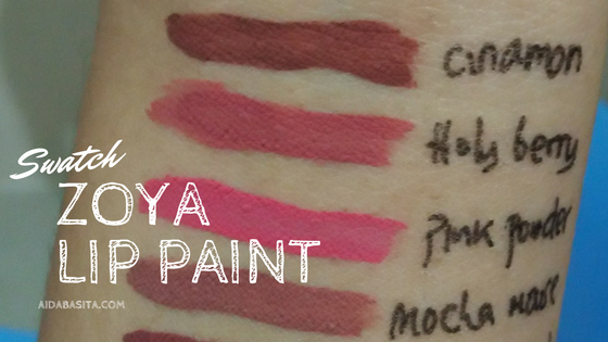 Swatch Zoya Lip Paint - aidabasita