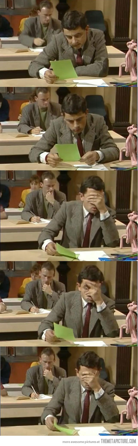 my reaction when i see my exam