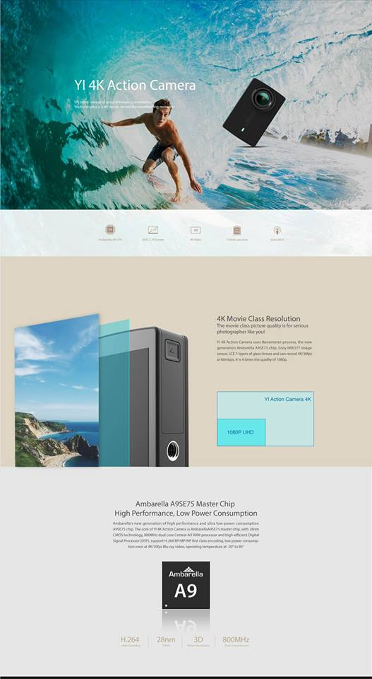 Harga Xiaomi Yi Cam 4K Action Camera 2 Di Malaysia