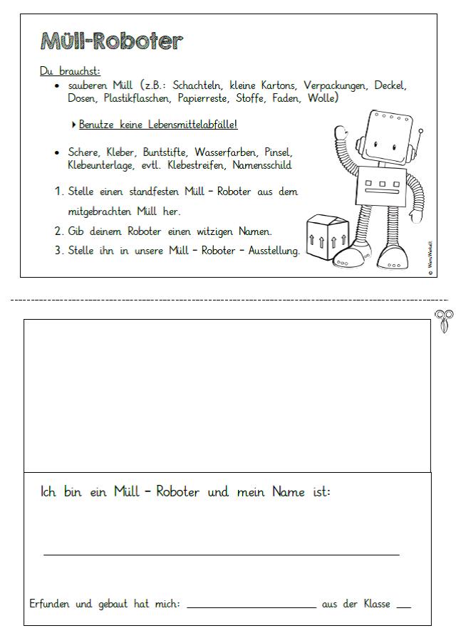 Arbeitsblatt Mülltrennung Xiaomi : Werniwerkelt müll und recycling