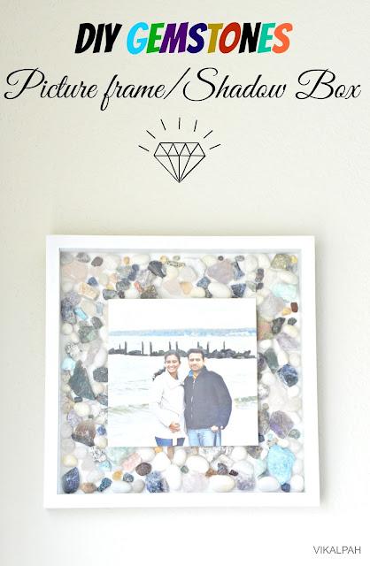 Gemstones shadow box