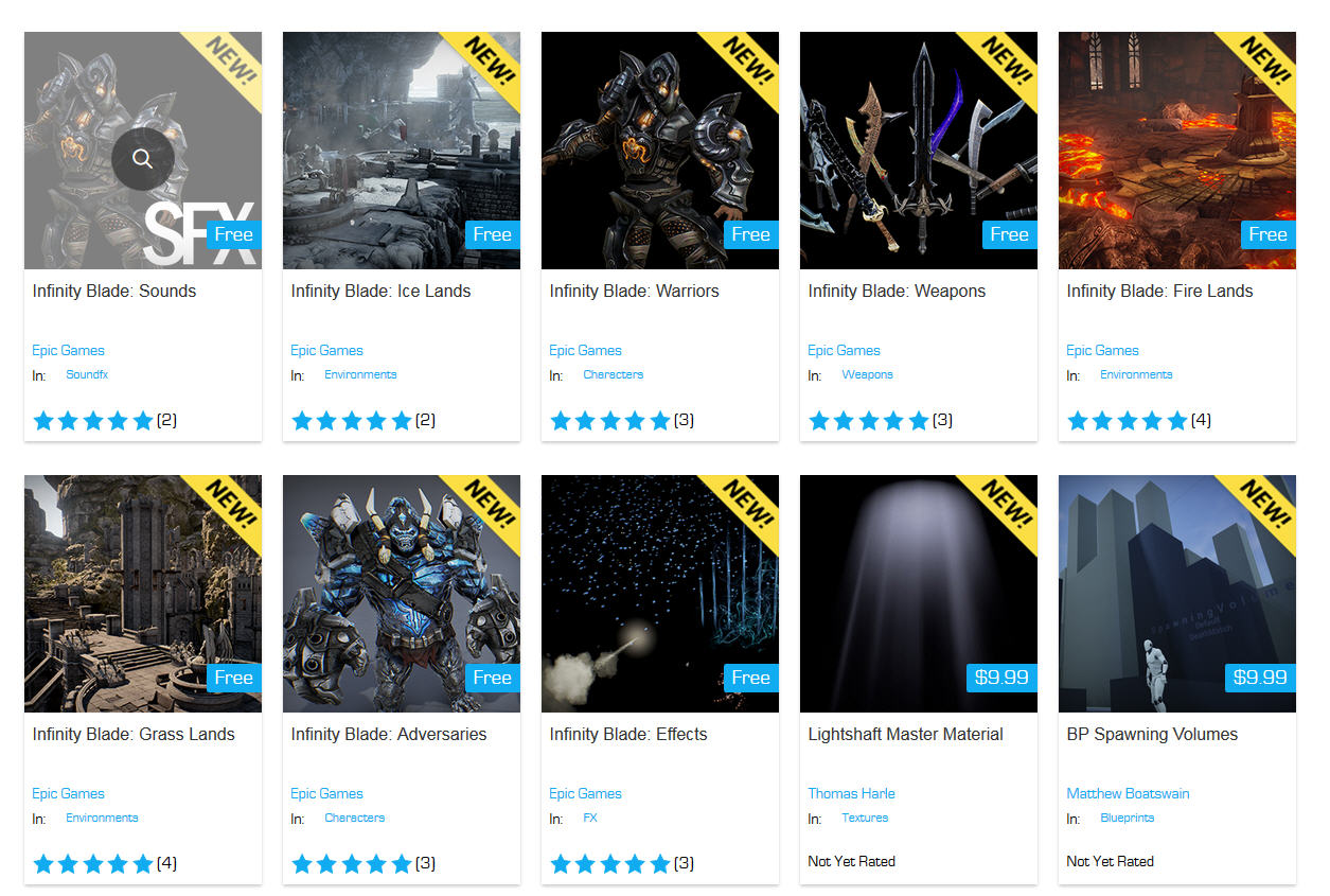 Download Free Infinity Blade Collection in Unreal Engine