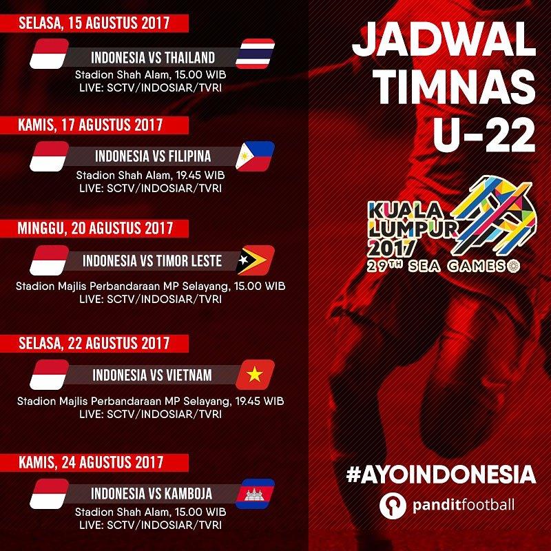 Jadwal bola siaran langsung timnas indonesia u 22 sea games 2017 jadwal siaran langsung sepak bola stopboris Choice Image