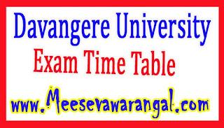 Davangere University B.Ed IInd Sem Dec/Jan 2016-17 Exam Time Table