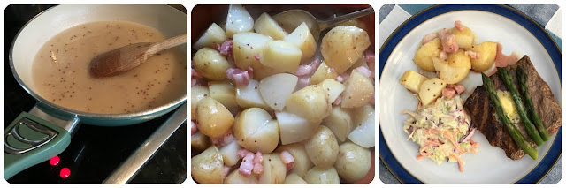 recipe German hot potato salad with bacon using Asda's extra special Jersey Royals
