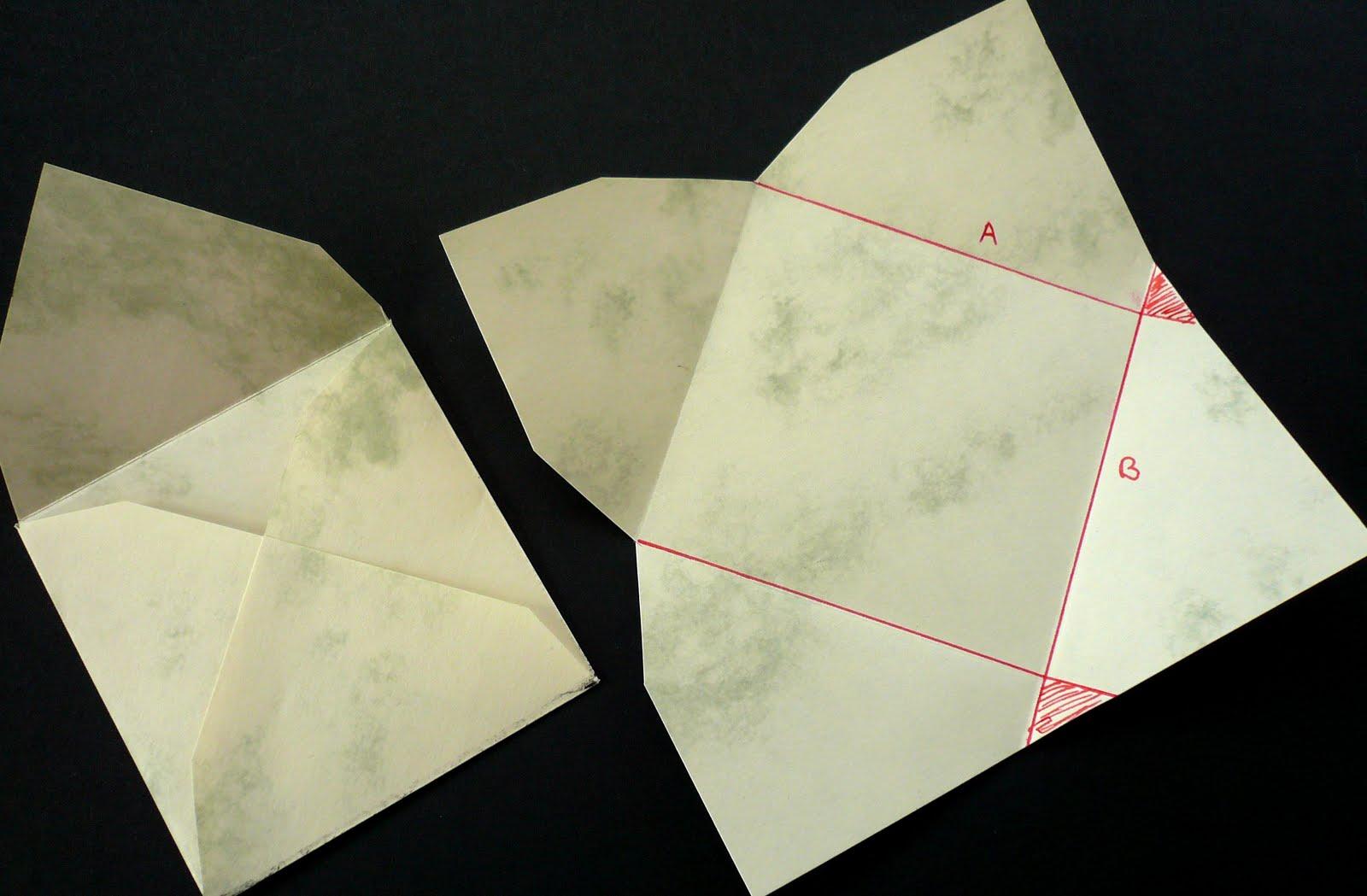 Briefumschläge Falten : Stempellotta briefumschläge selbst gemacht
