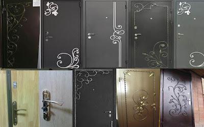 кованные элементы на двери