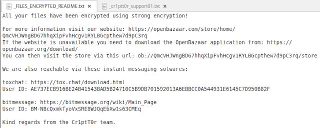 Phát hiện mã độc tống tiền Cr1ptT0r - nhắm mục tiêu vào các thiết bị NAS lưu trữ dữ liệu - cybersec365.org