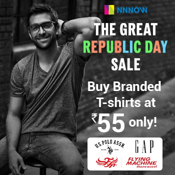 (Big Loot) Branded Arrow, USPA, GANT, Flying Machine T-Shirts In Just ₹50 (Don't Miss)