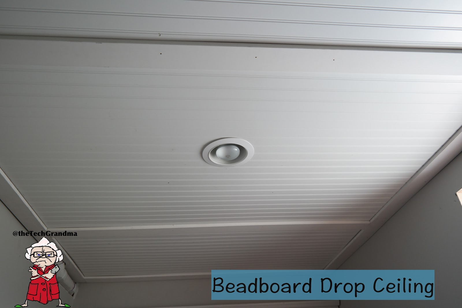 The Tech Grandma Beadboard Drop Ceiling In My Basement