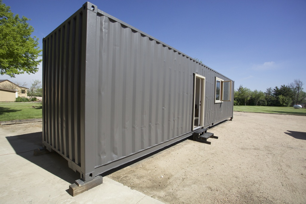 Tiny house town brighton shipping container home 320 sq ft - Ft shipping container home ...