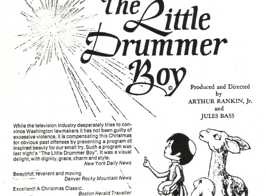 Rankin/Bass-historian: RANKIN/BASS' THE LITTLE DRUMMER BOY